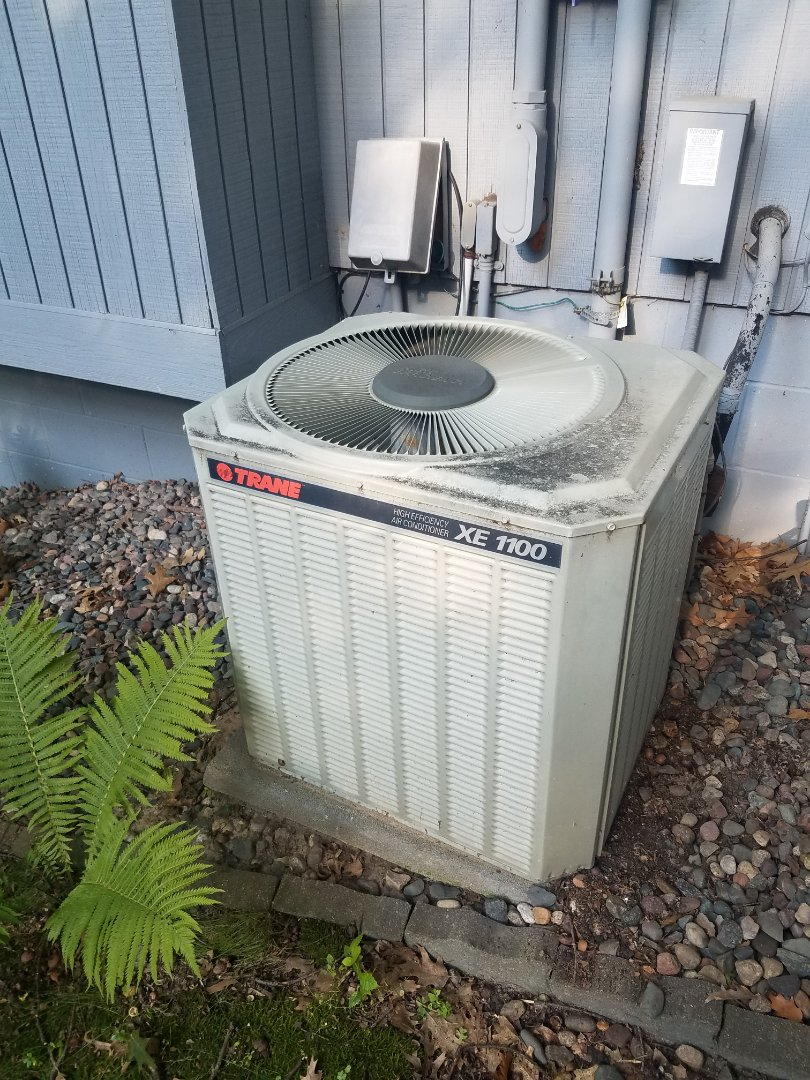 Plymouth, MN - Cooling maintenance. Performed diagnostics on a Trane air conditioner.