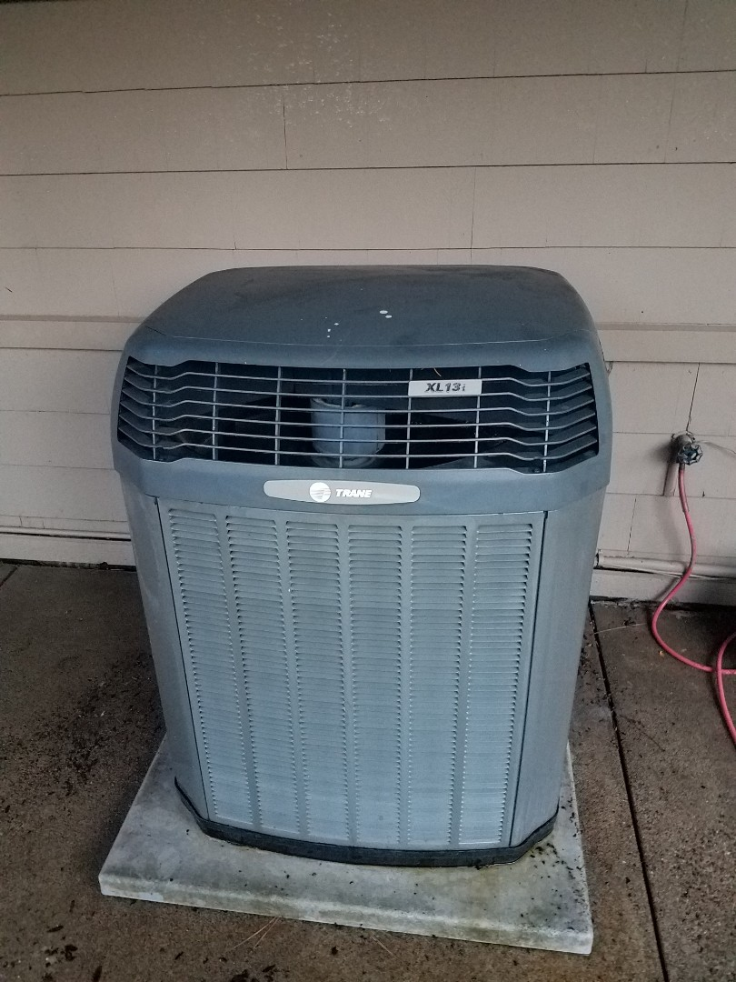 Eden Prairie, MN - Cooling maintenance. Performed cleaning and tune up on a Trane air conditioner. Installed new AC motor booster, AC synthetic oil treatment and locking refrigerant caps.