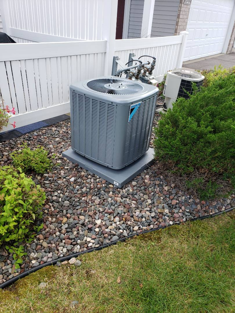 Osseo, MN - New  air conditioner install