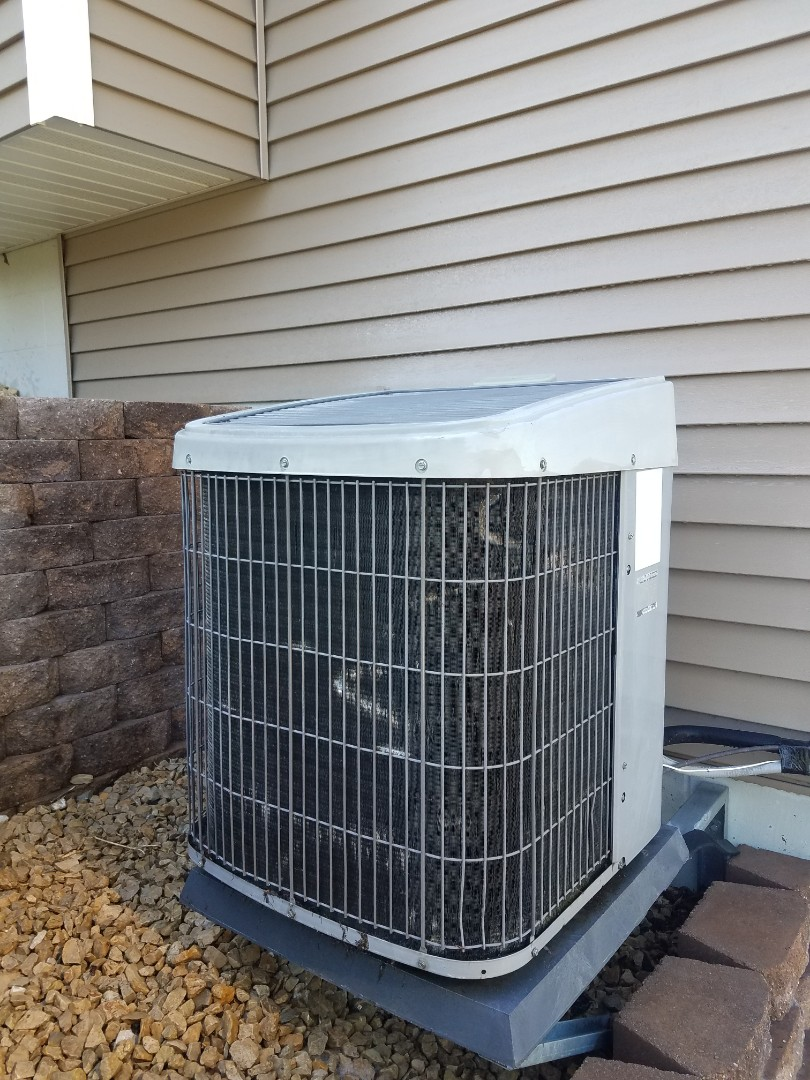 Hanover, MN - AC maintenance. Performed cleaning and tune up on a Tempstar AC. Installed new outdoor fan motor, fan motor control and a AC motor booster.