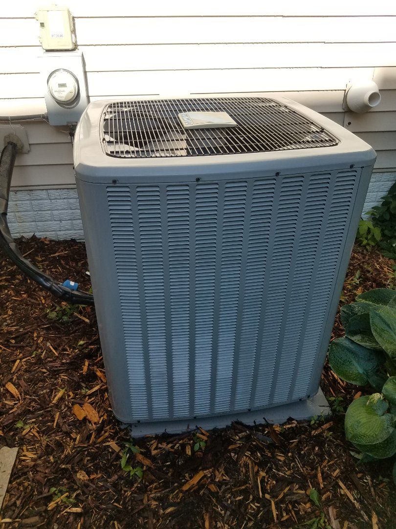 Maple Grove, MN - Cooling maintenance. Performed tune up and cleaning on a Daikin AC.