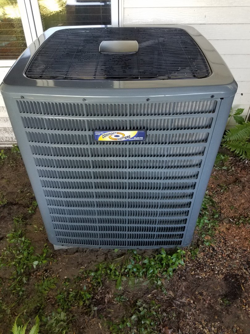 Delano, MN - Cooling maintenance. Performed cleaning and tune up on a Comfort Matters AC.
