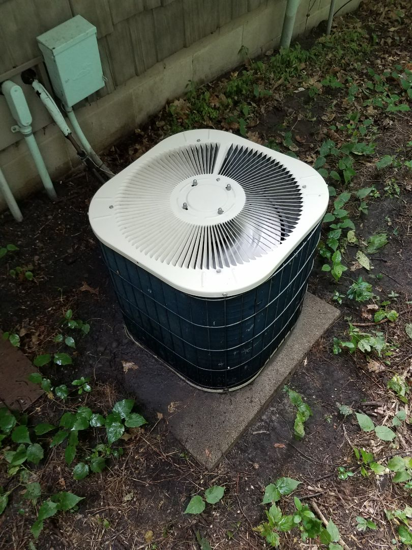 Buffalo, MN - Cooling maintenance. Performed tune up and cleaning on a Bryant air conditioner.