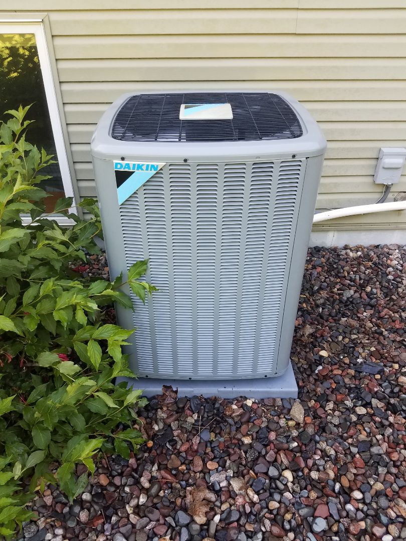 Elk River, MN - Cooling maintenance. performed tune up and cleaning on a Daikin AC.