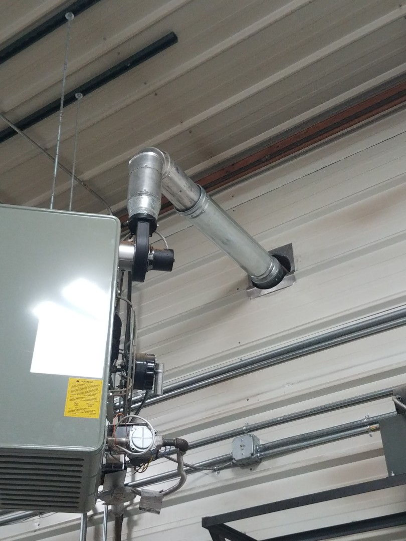 Saint Michael, MN - Installed gas line and venting on unit heater