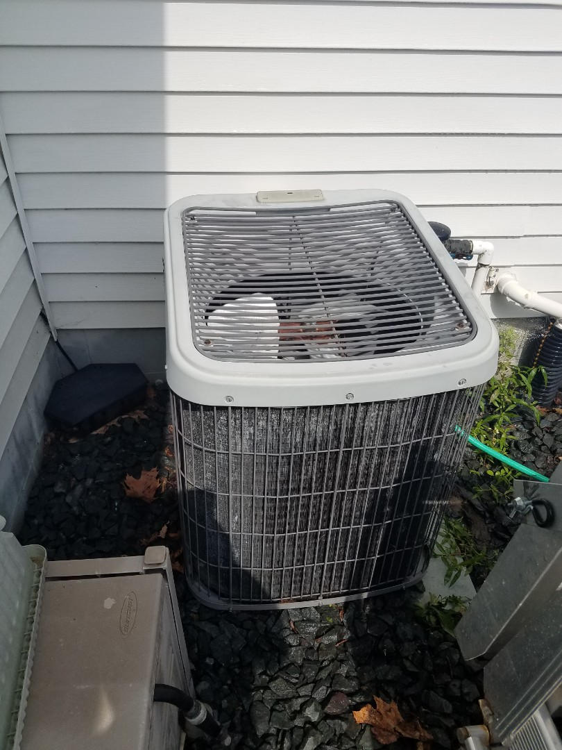 Rogers, MN - AC maintenance. Performed cleaning and tune up on a Tempstar air conditioner.