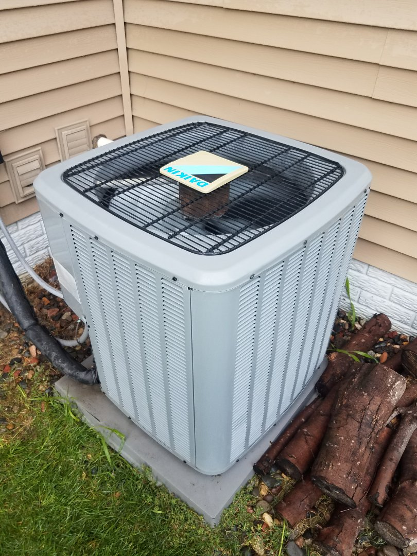 Hanover, MN - Ac maintenance. Performed cleaning and tune up on a Daikin AC. Installed AC motor booster.