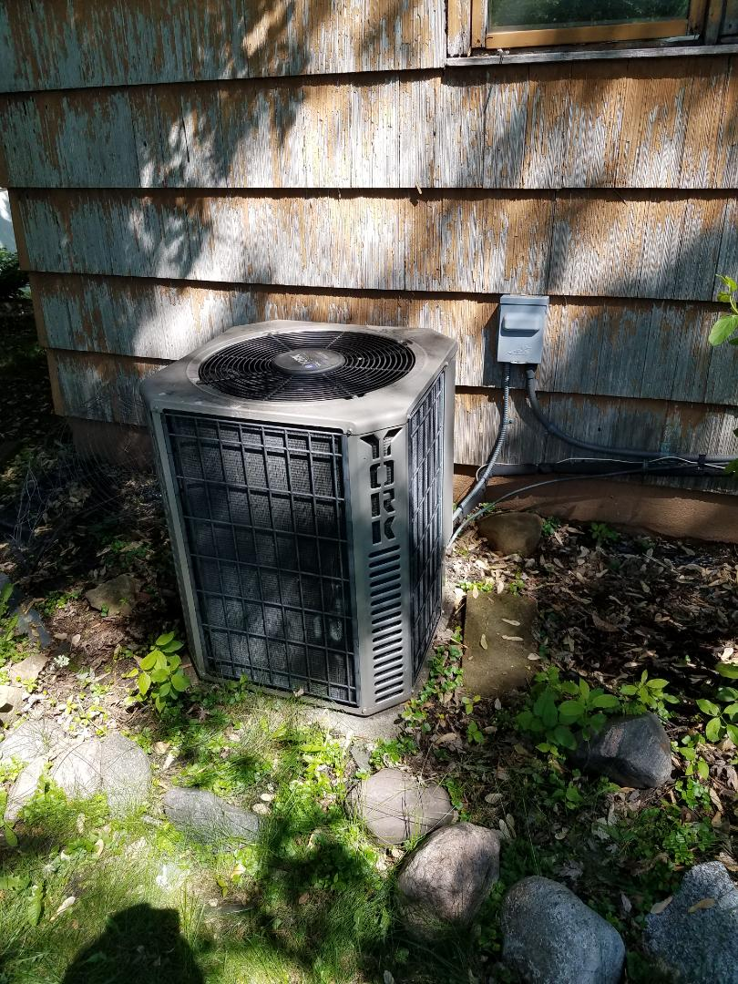 Rockford, MN - AC tune up and clean on York unit in Rockford