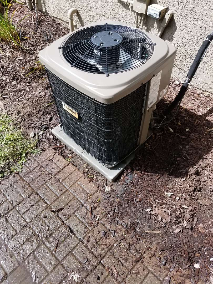 Monticello, MN - AC tune up and clean on Luxaire unit in Monticello
