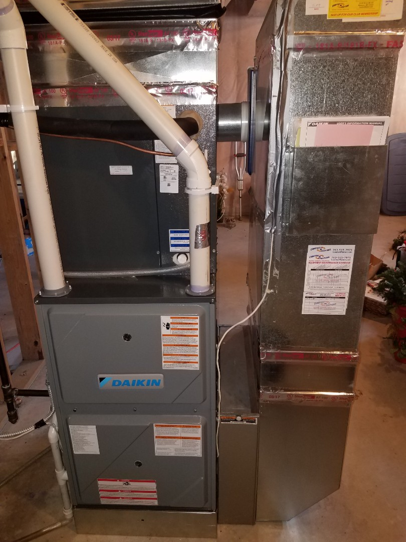 Hanover, MN - AC and furnace tune up and clean on Daikin system in Hanover