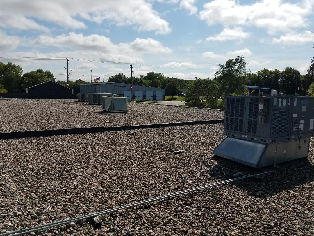 Hanover, MN - Commercial roof top maintenance on 4 trane units in Hanover