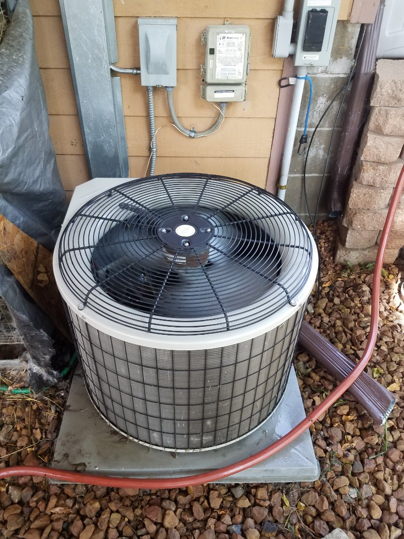 Eden Prairie, MN - Cooling maintenance. Performed tune up and cleaning on a Payne air conditioner.