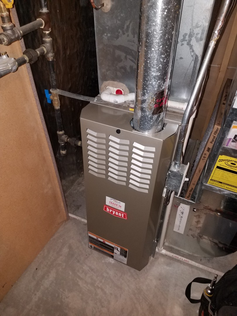 Medina, MN - Furnace tune up and clean on Bryant unit in Medina