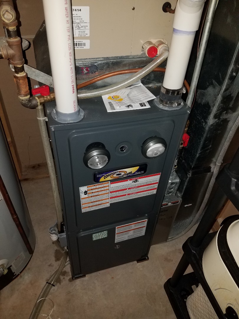 Hanover, MN - Furnace maintenance. Performed tune up and cleaning on a Comfort Matters furnace.