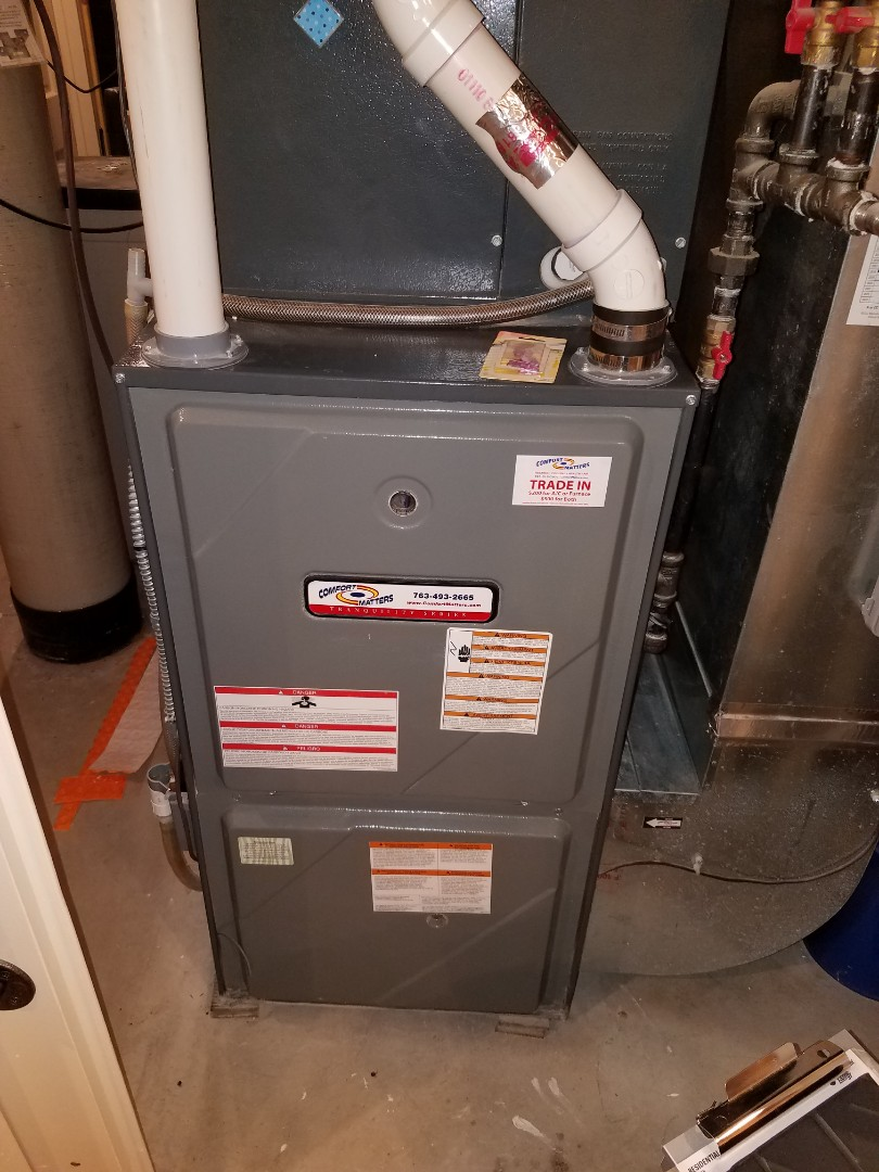Loretto, MN - Furnace tune up and clean on Amana unit in Loretto