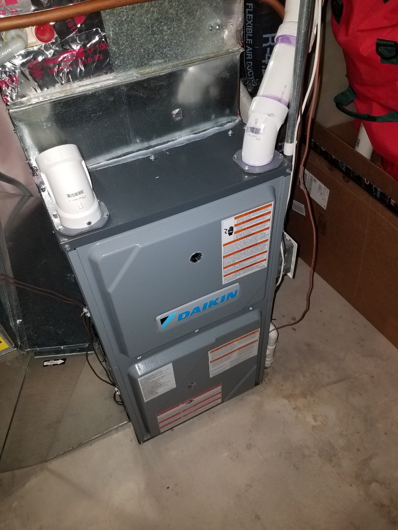Hanover, MN - Furnace tune up and clean on Daikin unit in Hanover