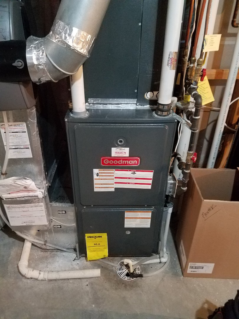 Osseo, MN - Heating maintenance. Performed cleaning and tune up on a Goodman furnace.