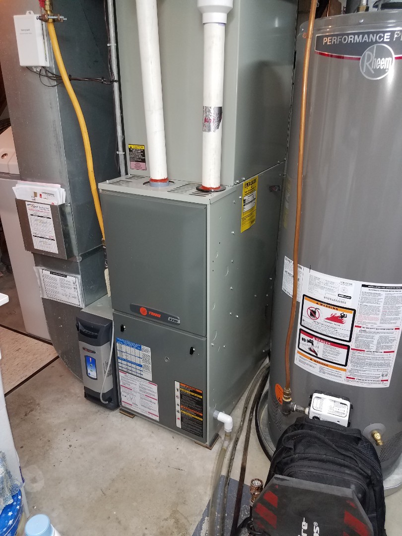 Osseo, MN - Furnace tune up and clean on Trane unit in Maple Grove