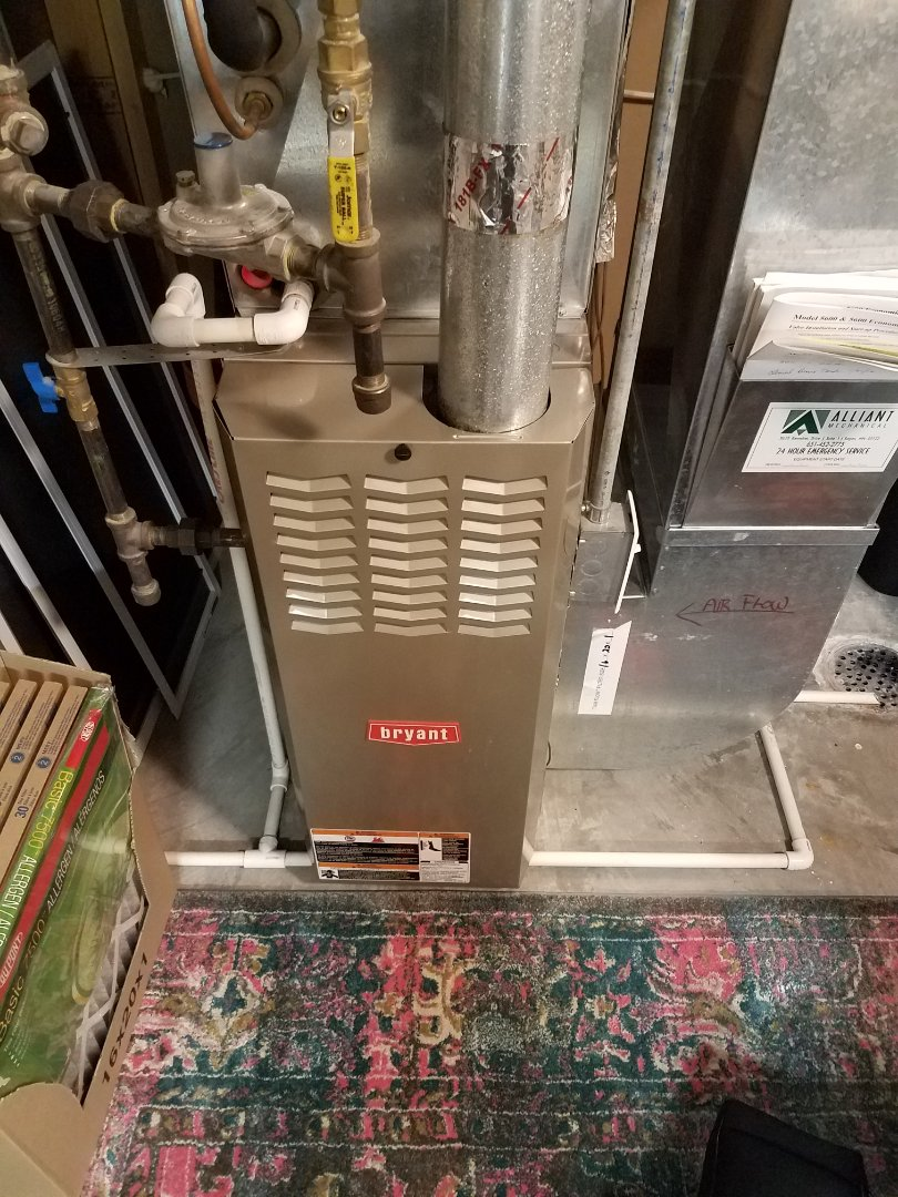 Otsego, MN - Furnace maintenance. Diagnosed thermostat issues on a Bryant furnace.