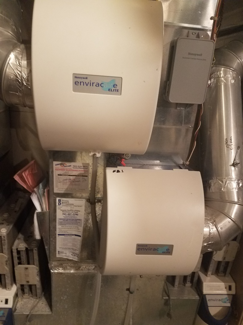 Orono, MN - Humidifier maintenance. Performed cleaning and tune up on a Honeywell whole home humidifier.