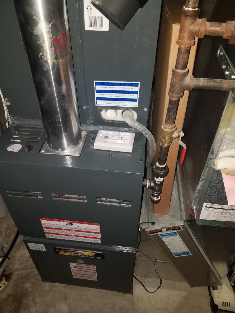 Saint Michael, MN - Furnace maintenance. Performed tune up and cleaning on a Comfort Matters furnace.