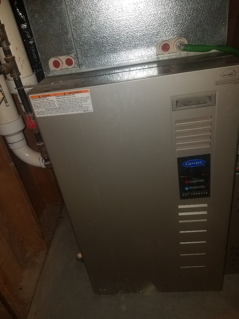 Osseo, MN - Heating maintenance. Performed diagnostics on a Carrier furnace.