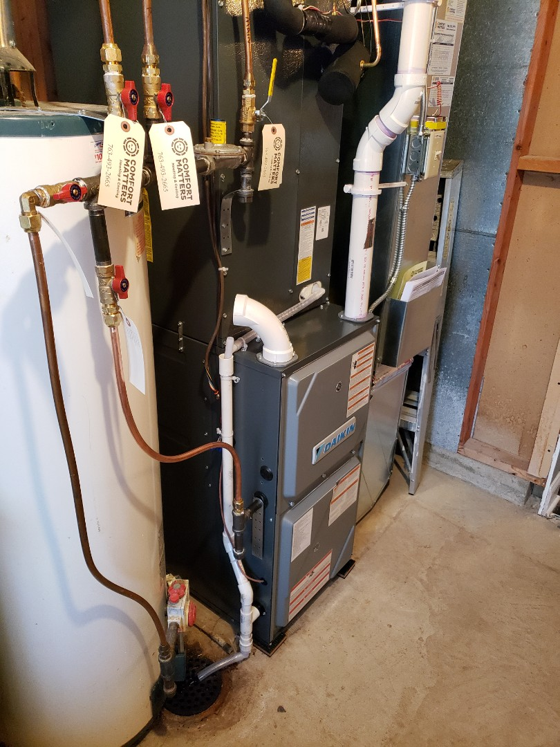 Plymouth, MN - Installed a new furnace and air conditioner