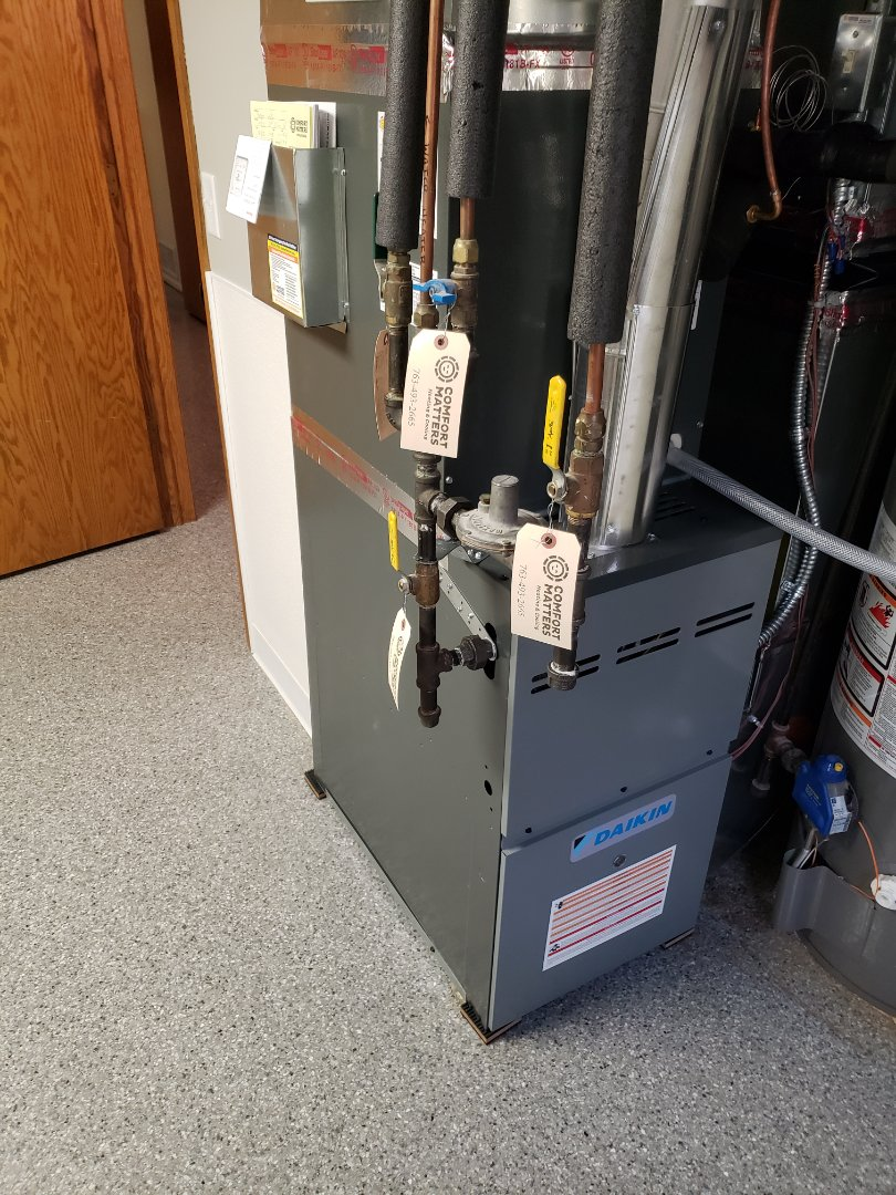 Osseo, MN - Installed new furnace and air conditioner