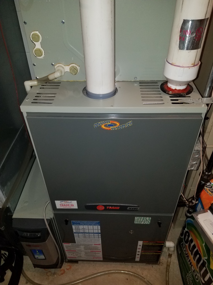 Osseo, MN - Furnace tune up and clean on trane unit in Monticello