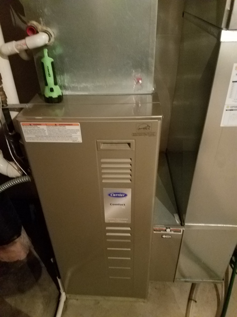 Saint Michael, MN - Furnace maintenance. Diagnosed a failed control board on a Carrier furnace.