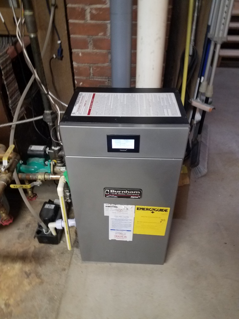 Buffalo, MN - Boiler maintenance. Performed cleaning and tune up on a Burnham boiler.