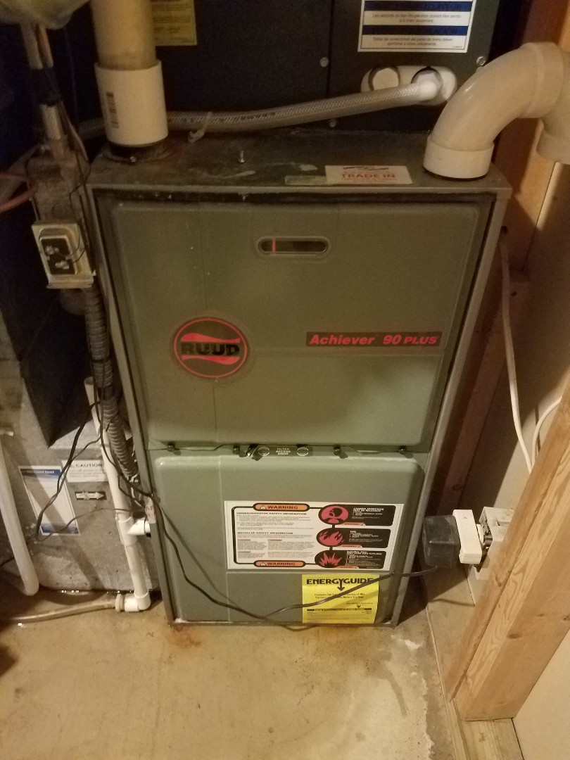 Plymouth, MN - Heating maintenance. Performed a drain line repair on a Ruud furnace.