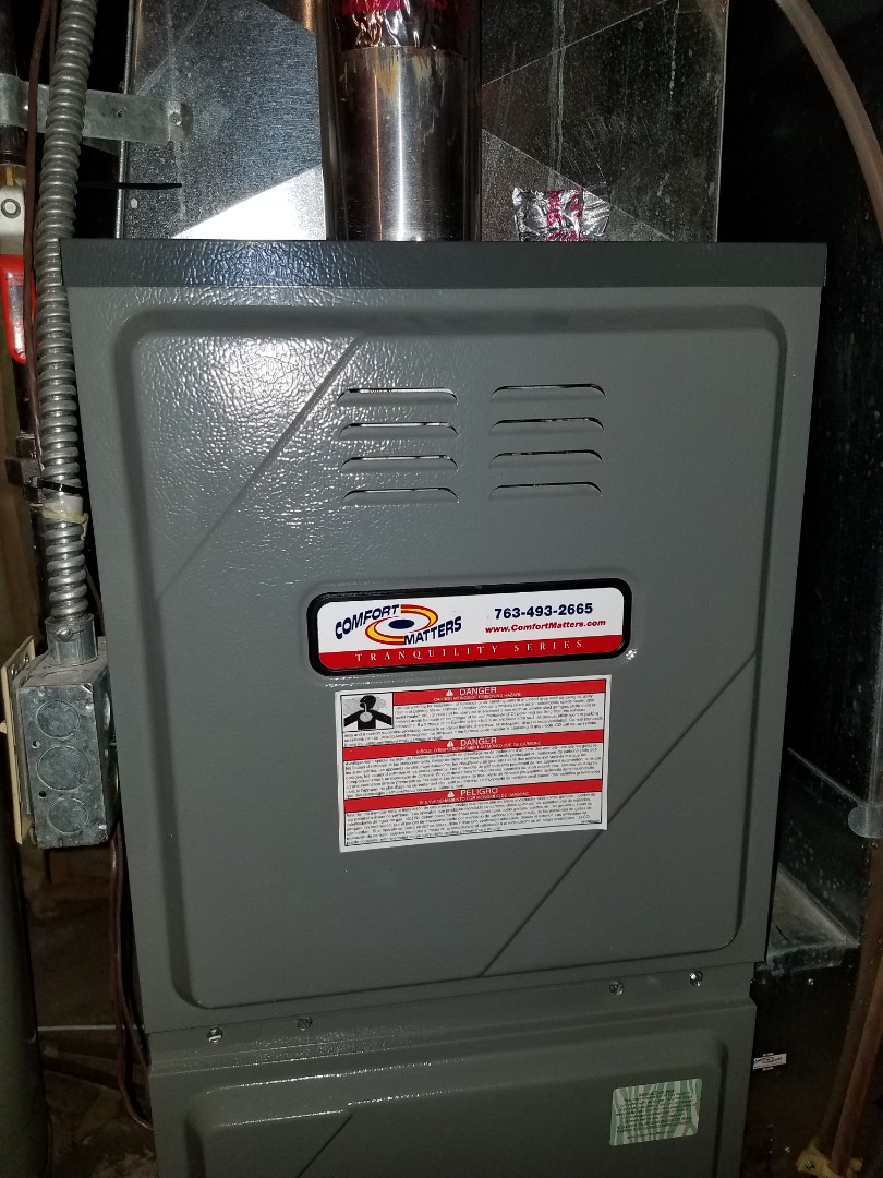 Monticello, MN - Furnace tune up and clean on amana unit in Monticello