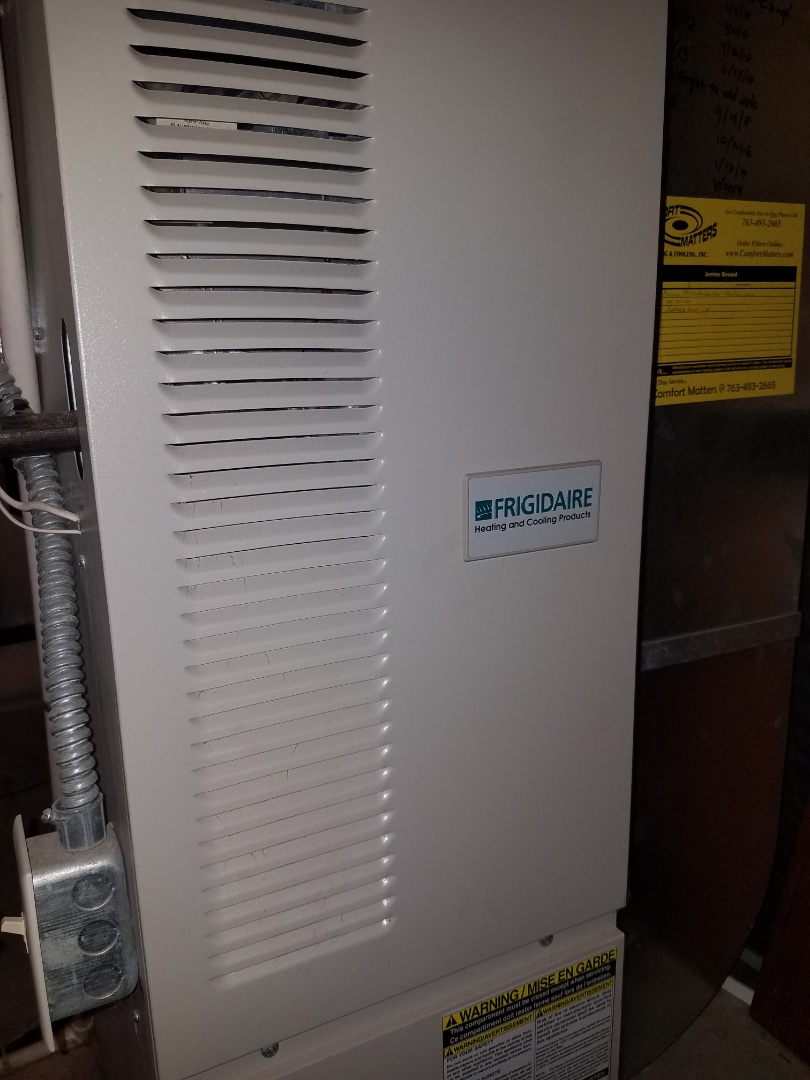 Saint Michael, MN - Furnace tune up and clean in Frigidaire unit in St. Michael