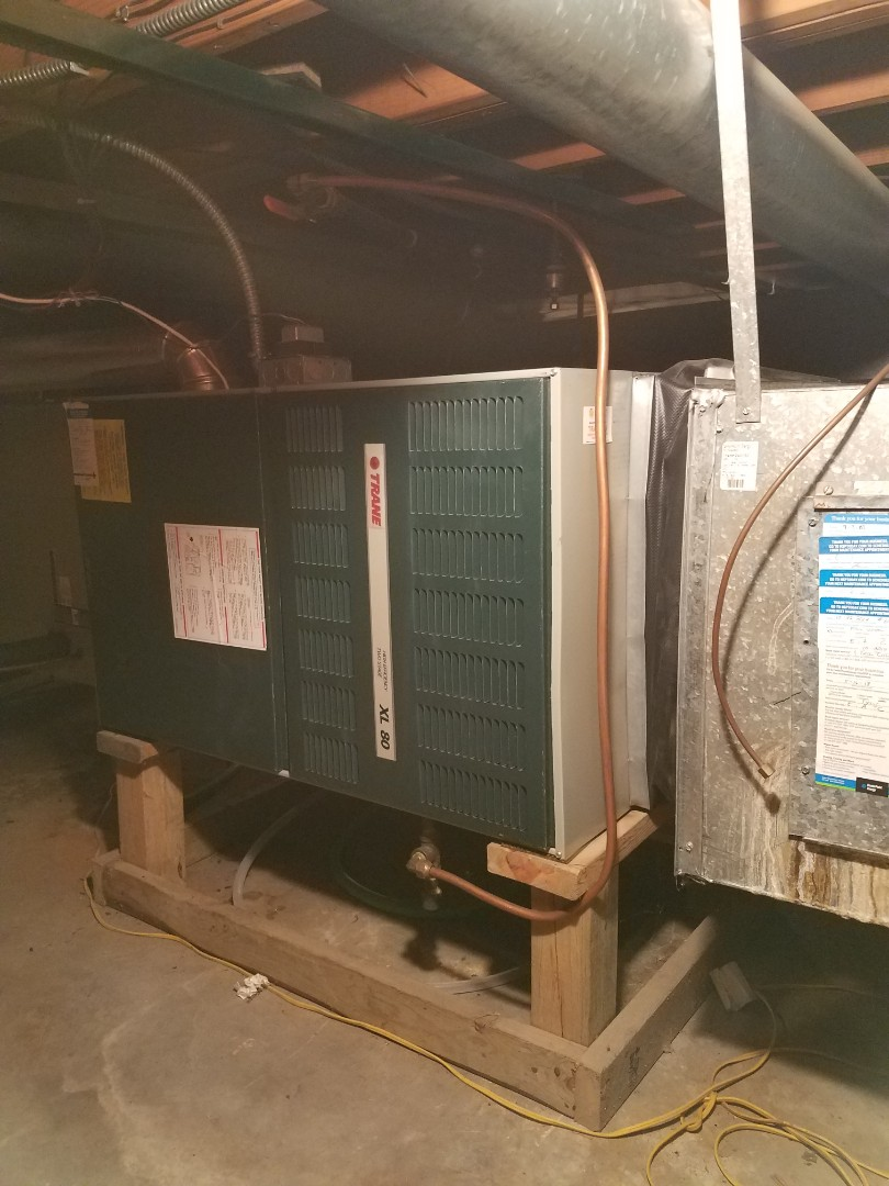 Edina, MN - Heating maintenance. Performed cleaning and tune up on a Trane furnace.