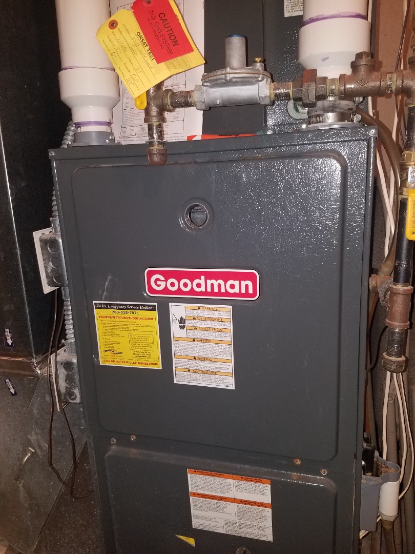 Plymouth, MN - Furnace tune up and clean on Goodman unit in Plymouth