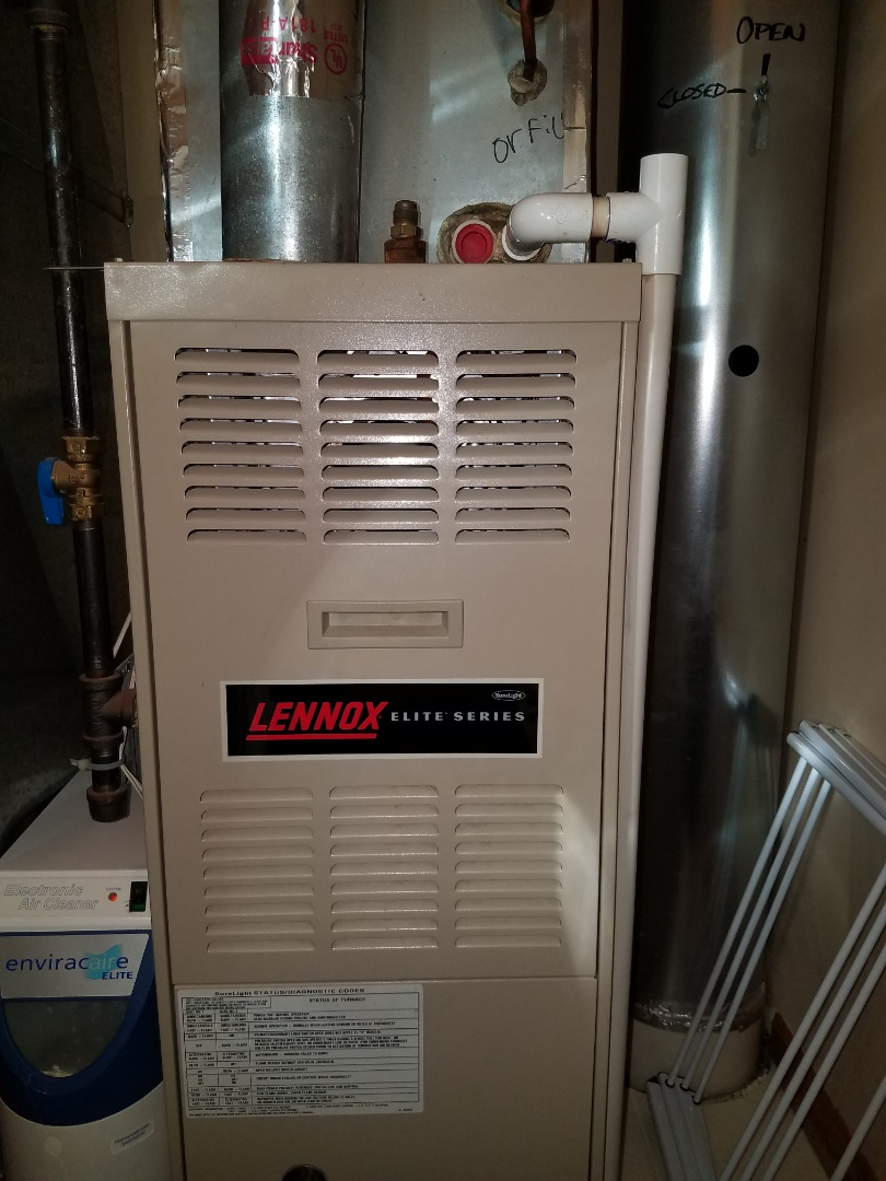 Ramsey, MN - Furnace tune up and clean in Lennox unit in Otsego