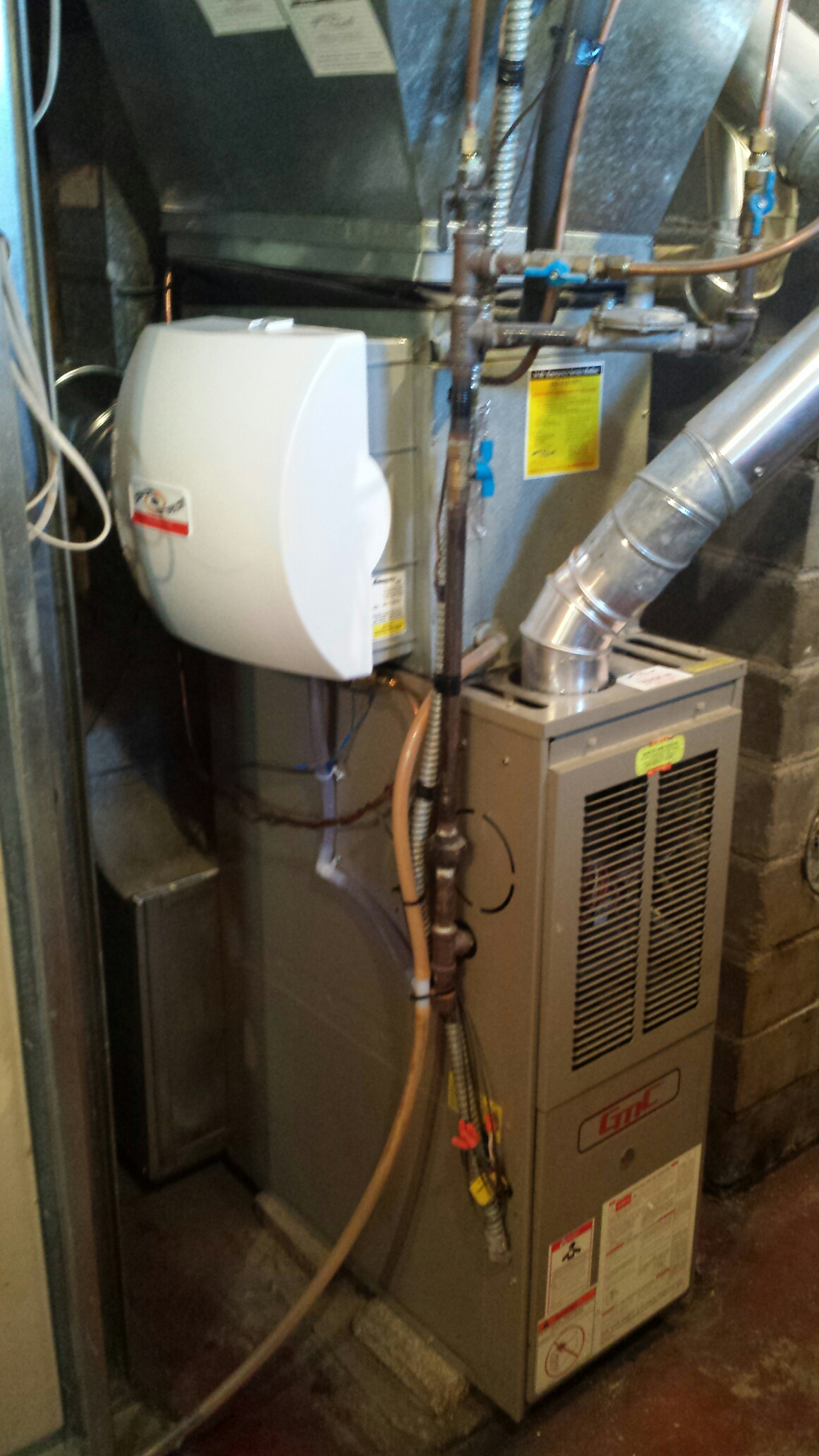 Anoka, MN - Installed a humidifier