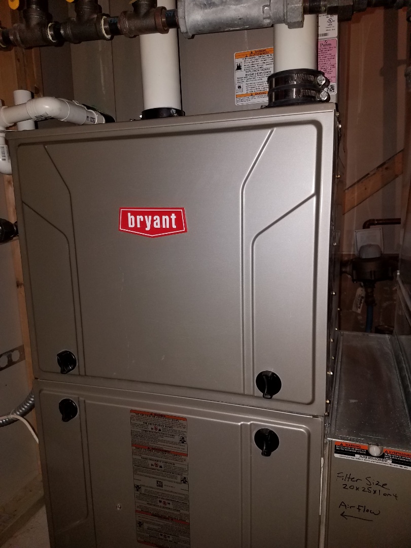 Osseo, MN - Furnace tune up and clean on Bryant furnace in Plymouth