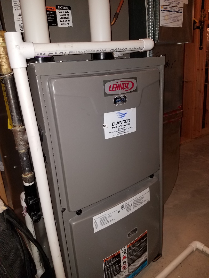 Rogers, MN - Furnace tune up and clean  on Lennox unit in Otsego