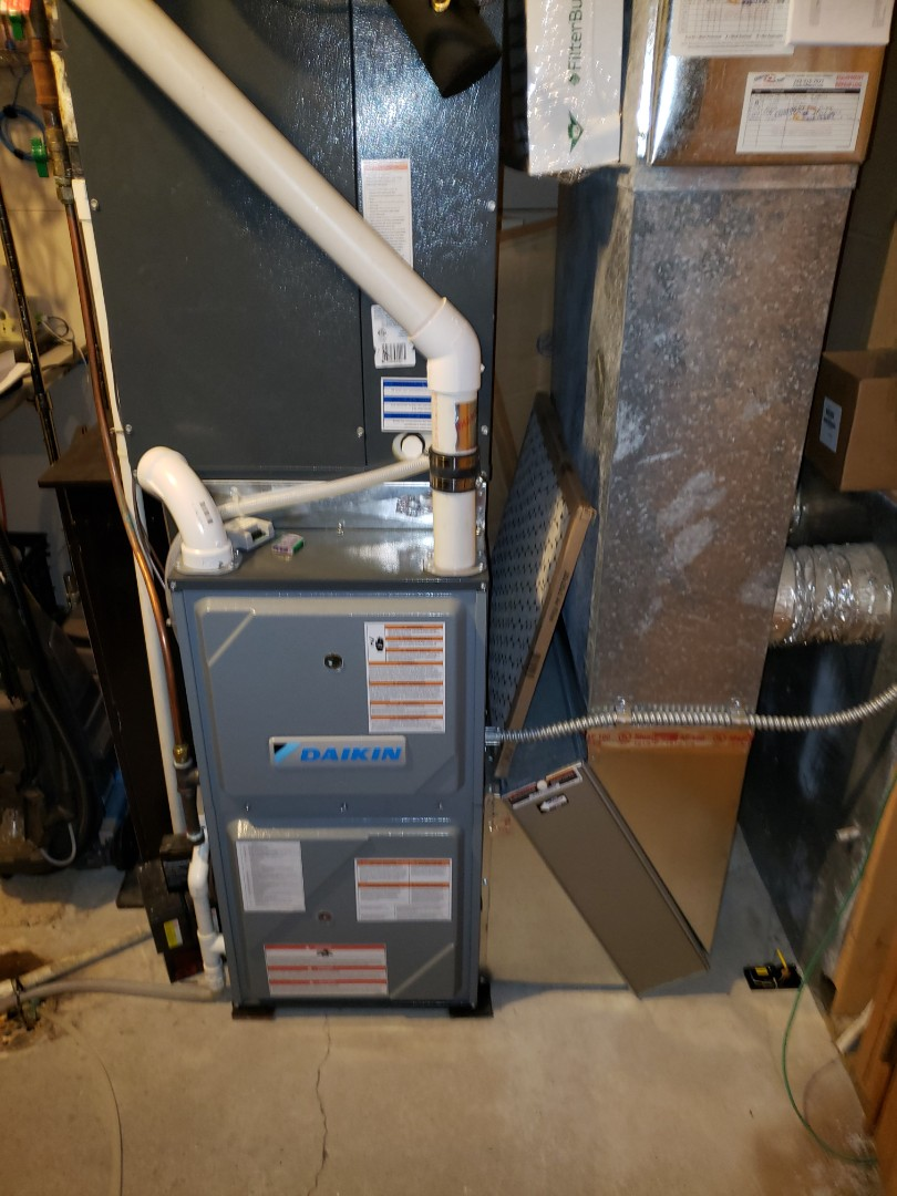 Independence, MN - Heating service. Installed a control board and perform a cleaning and tune up on a Daikin furnace.