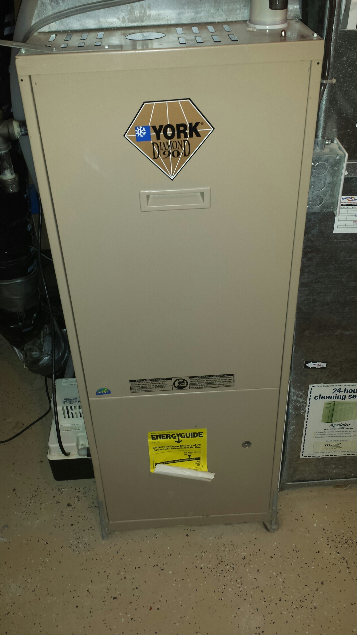 Montrose, MN - Furnace service. Replaced a flame sensor, igniter, and control board on a York furnace.