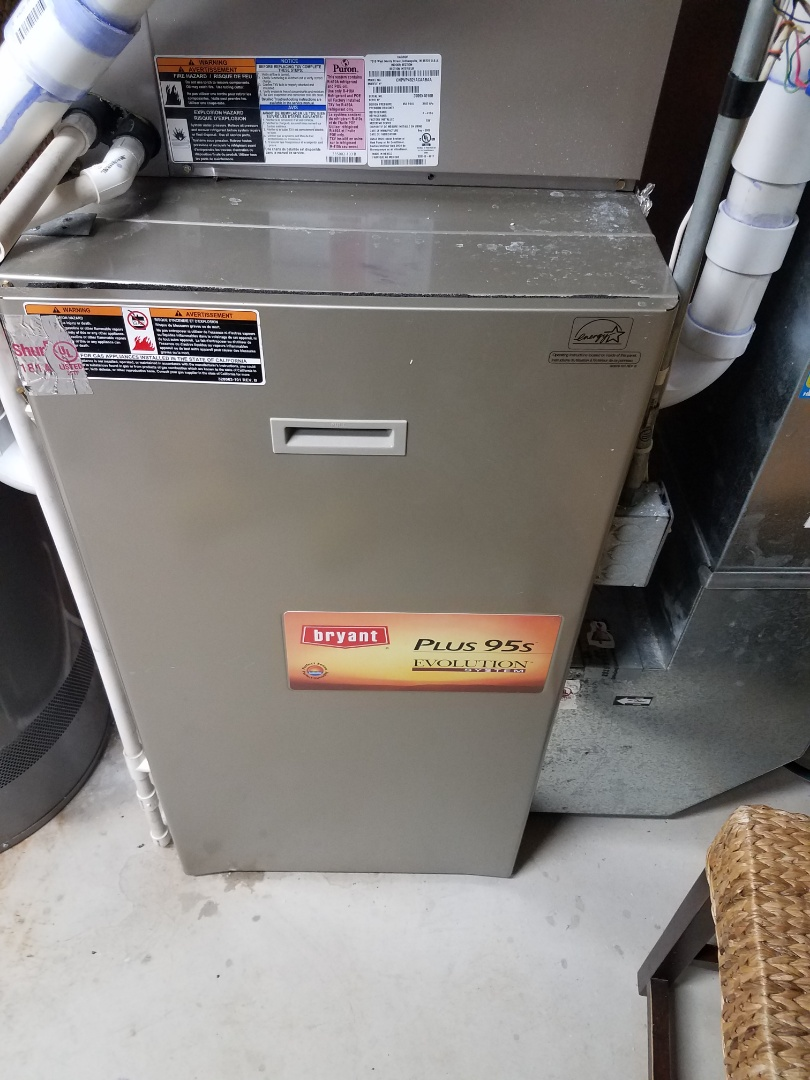Maple Grove, MN - Furnace maintenance. Performed tune up and cleaning on a Bryant furnace. Performed tune up and cleaning on a Aprilaire whole home humidifier.