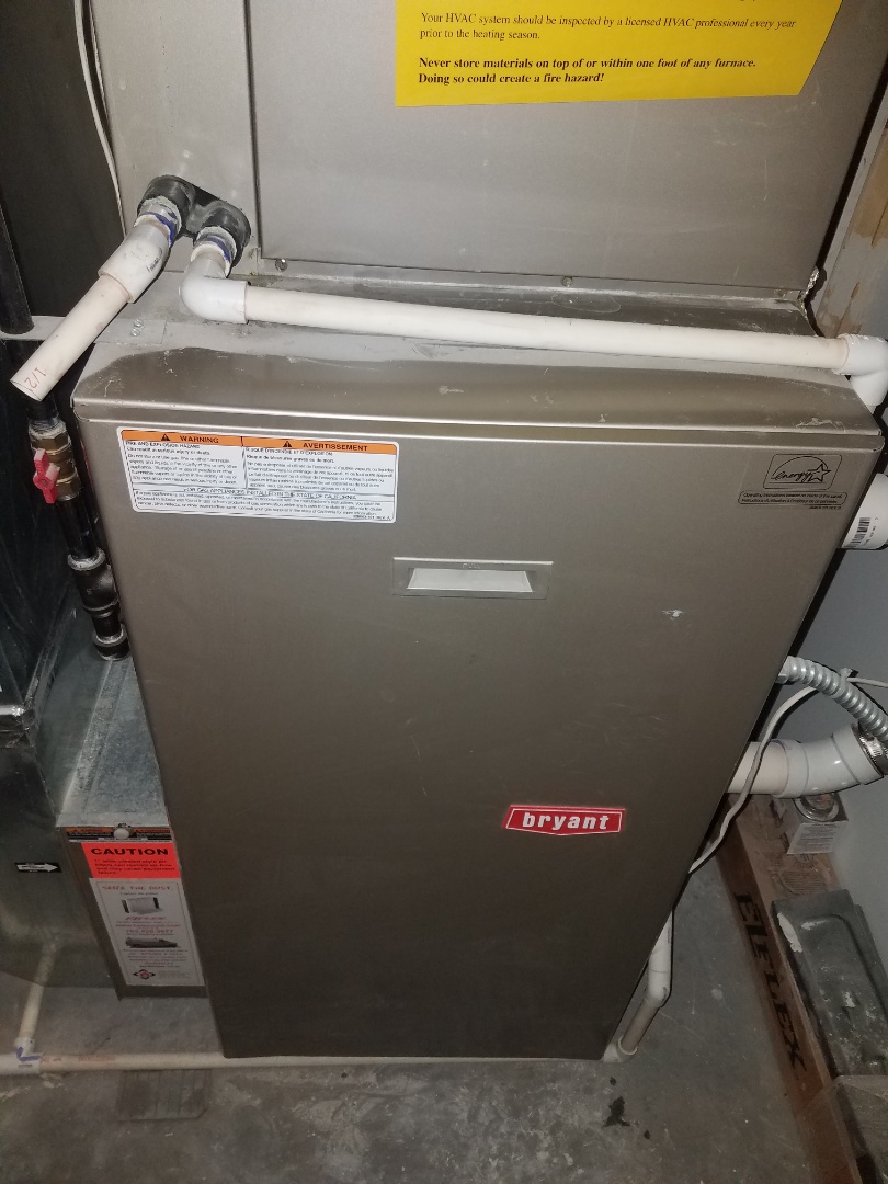Maple Grove, MN - Furnace maintenance. Diagnosed a Bryant furnace.