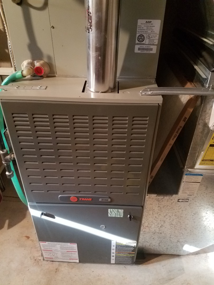 Plymouth, MN - Furnace maintenance. Performed tune up and cleaning on a Trane furnace.
