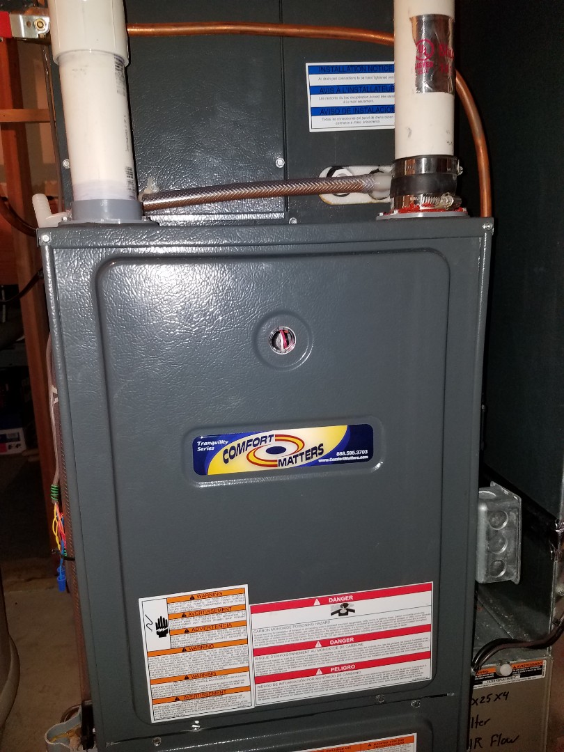 Corcoran, MN - Furnace tune up and clean on Goodman unit in Corcoran