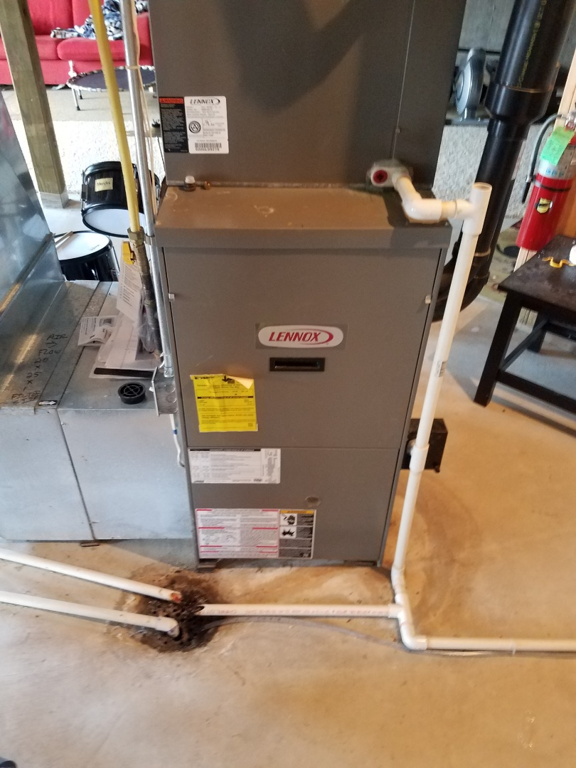 Heating maintenance. Performed cleaning and tune up on a Lennox furnace.