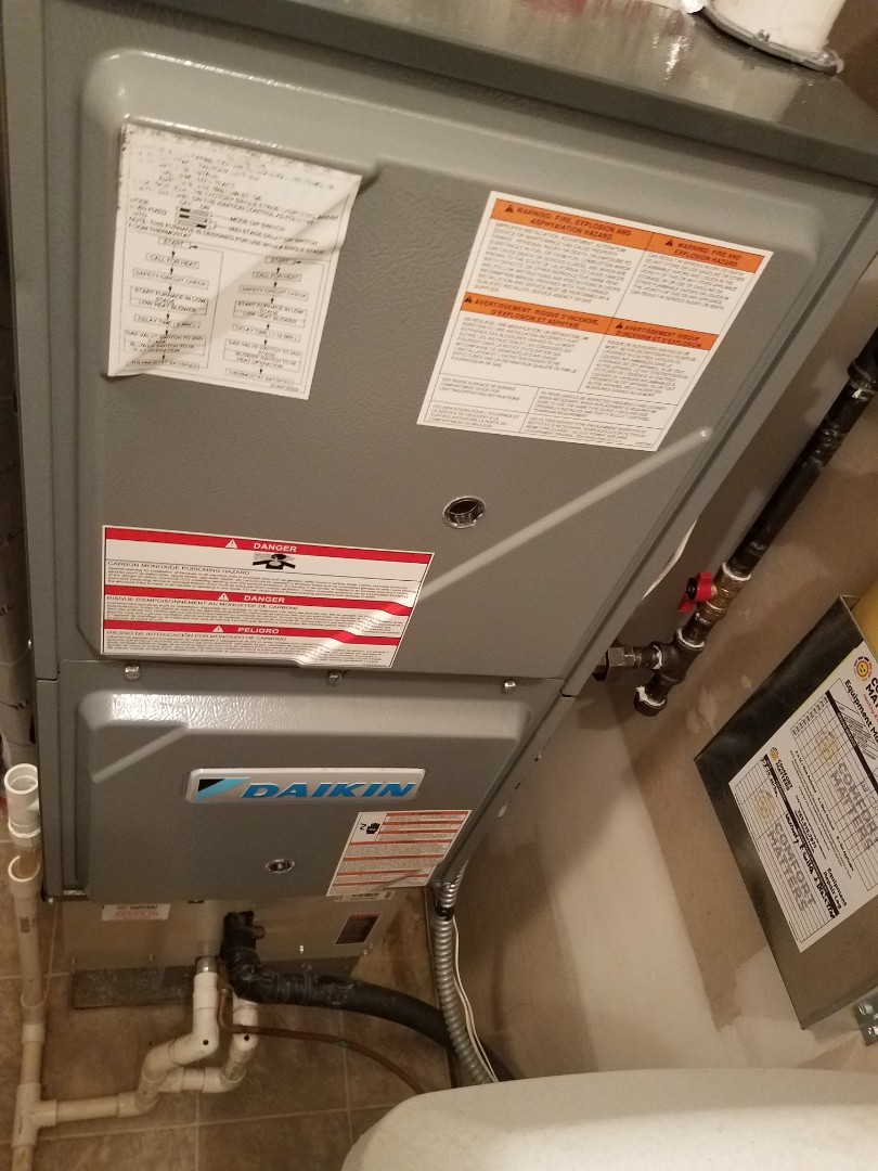 Saint Michael, MN - Heating maintenance. Performed tune up and cleaning on a Daikin furnace