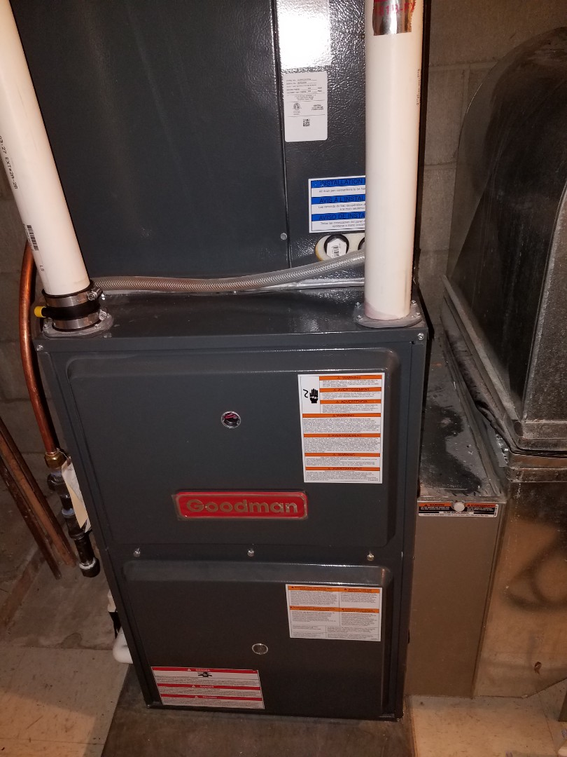 Big Lake, MN - Heating maintenance. Performed cleaning and tune up on a Goodman furnace. Performed cleaning and tune up on a Honeywell whole home humidifier.