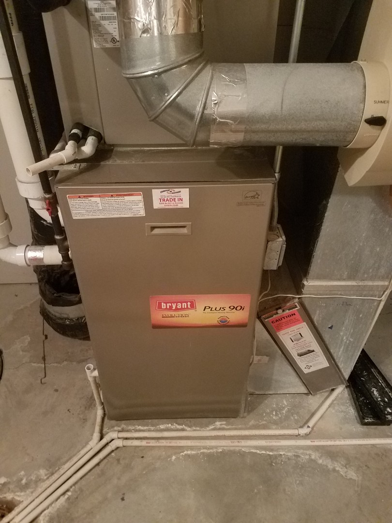 Medina, MN - Furnace maintenance. Performed tune up and cleaning on a Bryant furnace. Removed rodent nest from flue pipe.